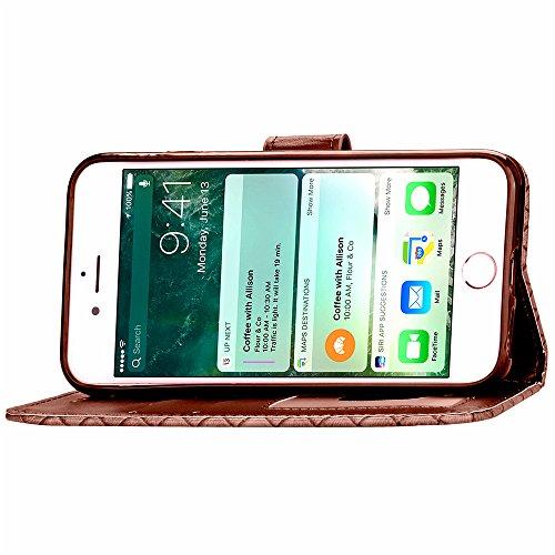Custodia in Pelle per iPhone 7 (4.7 Pollici), bling perla flip cover per iPhone 7 (4.7 Pollici), Vandot 3D Lusso Accessori Duro protezione completa Antigraffio Vibrazione Portafoglio con Carte Slot Cr Design 13
