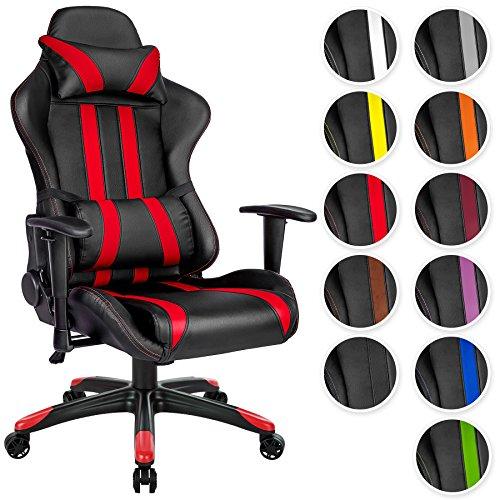 Opiniones tectake silla de oficina ergonomica racing for Silla oficina racing