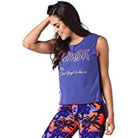 Zumba Fitness® Don 't Forget to Dance Cutout Reservorio Mujer Tops, Todo el año, Mujer, Color Purple Moon, tamaño Extra-Small