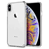 Spigen Coque iPhone XS Max, Coque Xs Max [Ultra Hybrid] AIR CUSHION / Transparent / TPU Bumper / Reinforced Camera Protection - [Crystal Clear]