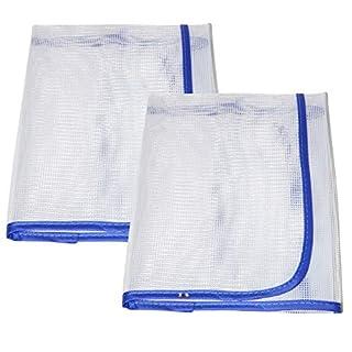 all-around24 2 Stück Bügeltuch,Bügelschutztuch,Bügelhilfe für Dampf-Bügeleisen,Bügelauflage für Bügelbtrett für empfindliche Stoffe wie Nylon,Seide,Perlon (2 Stück)