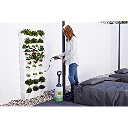Minigarden Vertical Kitchen Garden pour 24 Plantes, Comprend Le kit d'arrosage Goutte-à-Goutte, Autoportant ou Fixé au Mur, Long Cycle de Vie (Blanc)