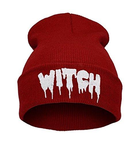 Morefaz Beanie hat Bonnet Fashion Jersay Oversize Bad Hair Day Bastard Diamond Witch