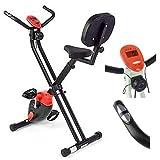 Unbekannt Bike Heimtrainer Ausdauer- und Cardiotraining Ergometer Trimmrad Klappbar mit Trainingscomputer