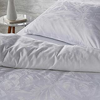 Essenza Jaeger White Pillowcases, Set of 2 Standard 50x75cm