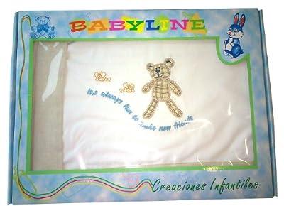 Sábanas para Minicuna 3 piezas 100% algodón - Medida estándar 50 x 80 (sabana bajera ajustable + funda almohada + encimera)