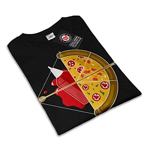 Pizza Jagd Pfeil Heiß Essen Damen S-2XL T-shirt | Wellcoda Black