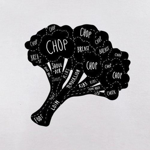 Butcher Broccoli Diagram - Herren T-Shirt - 13 Farben Weiß