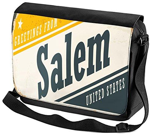 Umhänge Schulter Tasche Stadt Salem USA bedruckt
