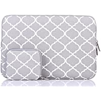 Laptop Sleeve, HBBEL Quatrefoil Style Canvas Fabric Bag Cover for