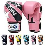 Fairtex Guantes de Muay Thai bgv1Limited Edition Nación–Rojo azul y rosa amarillo Marina Azul Naranja Tamaño de impresión: 10121416oz guantes de boxeo y entrenamiento para Kick Boxing MMA k1, rosa
