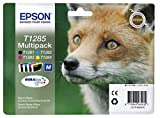 Epson Fox T1285 DURABrite 4 Colours Ultra Ink Easy Mail Pack Multipack Cartridges