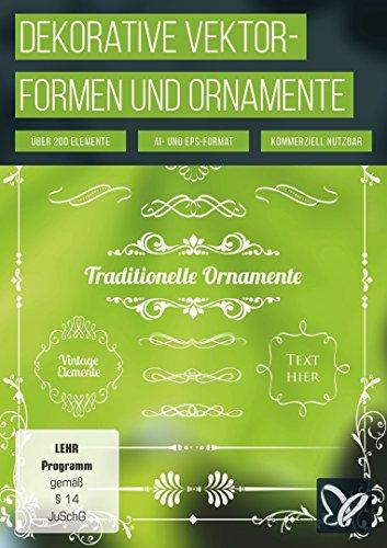 Über 200 dekorative Vektorformen und Ornamente (PC+Mac) - 200 Formulare