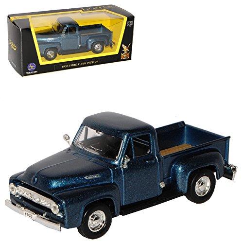 alles-meine.de GmbH Ford F-100 Pick-Up Blau Grau Metallic 2. Generation 1953-1956 1/43 Yatming Modell Auto