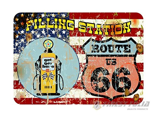 Amerika Route 66 Bar & Grill Old School Aufkleber von Finest-Folia Sticker Cafe Racer Retro #19
