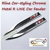 R-Line cromo metal Fender Sticker Emblema para Passat Jetta CC Polo Golf Sagitar