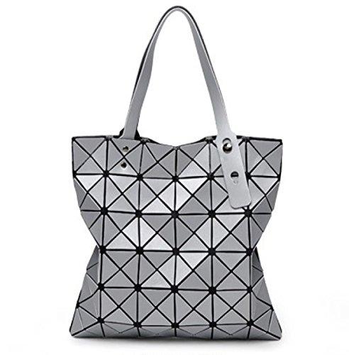Weibliche Tasche Sorte Falten Umhängetasche Handtasche Geometrie Lingge Laser Handytasche D