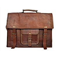 Messenger Bag RusticTown HandMade Cartella in pelle da 15 pollici in pelle Borsa in pelle Laptop