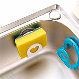 Modenny 4pc Badezimmer Regal Handtuch Seifenschale Halter Küchenspüle Dish Schwamm Lagerung Inhaber Rack Robe Haken Sucker mit Haken 4 Farben
