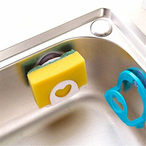 Modenny 4pc Badezimmer Regal Handtuch Seifenschale Halter Küchenspüle Dish Schwamm Lagerung...