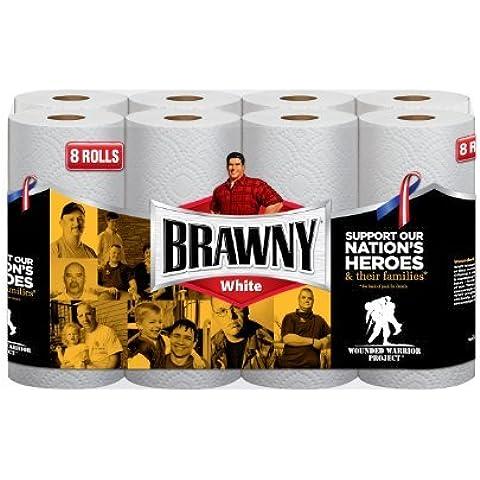 Brawny Paper Towels, White, 8 Giant Rolls by Brawny