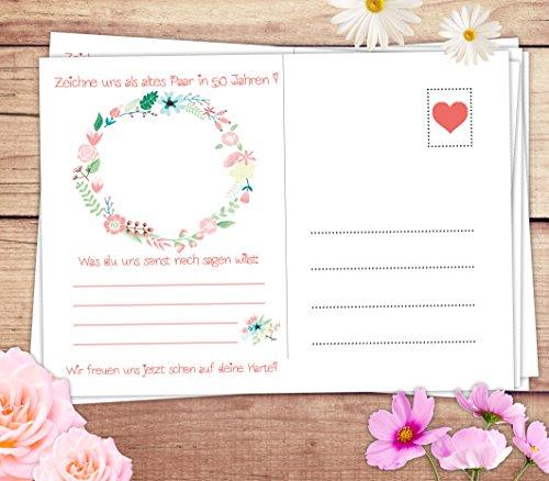 """Hochzeitspiel: 52 Postkarten mit spannenden Fragen für Gäste und das Brautpaar // Das 52 Wochen Spiel für Hochzeiten """"Schön dass du da bist!"""" von Sophies Kartenwelt - 5"""