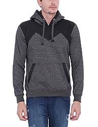 Campus Sutra Men Black Sweatshirt(AW16L_HLDR_M_PLN_CHBL_M)