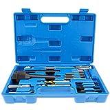Kit Coffret extracteur bougie de préchauffage cassé et réparation de filetage 16pcs Outil de décolleté Glow Plug 8mm 10mm Plug