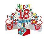 "Second Nature Pop Ups Geburtstag Pop Up Card mit ""Happy 18th Birthday"" Schriftzüge und Sterne"