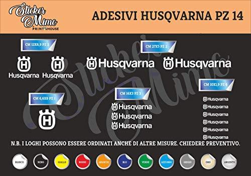 Husqvarna Decalcomania Adesivi Stickers Sponsor Tecnici Moto Casco Motorbike Scegli Il Colore PEGATINAS Moto GP AUFKLEBER Decals AUTOCOLLANTS Motocross Motocicletta Partners COMPATIBILI