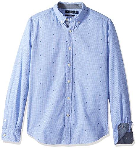 Nautica Unisex-Erwachsene Kurzarm Button Down Hemd - Blau - X-Groß - Nautica Herren Hemd