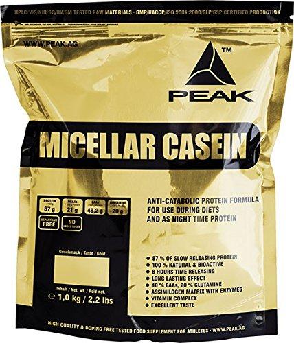 Peak Micellar Casein - Milk Protein, Cocos, 1er Pack (1 x 1 kg)