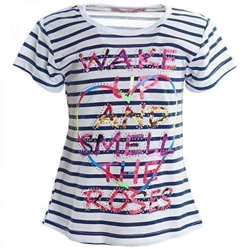 BEZLIT Mädchen Bluse T Shirt Sommer Girl Kurzarm Shirts Short Sleeve Sweat Hemd 20315, Farbe:Blau;Größe:116 (Fit-kids-shirt Loose)