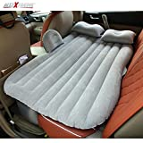 #10: AllExtreme Multifunctional Inflatable Car Bed Mattress for Rest,Traval, Leisure and Entertainment- Car Back Seat Travel Air Inflation Bed Universal SUV Extended Air Couch with Two Air Pillows, Car Air Pump and Repair Kit (Light Grey)