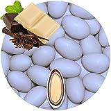 500g Hochzeitsmandeln Gastgeschenke Double hellblau Schokomandeln griechisch EinsSein® Hochzeit Zuckermandeln Schokomandeln Bonboniere Bonbons Schokotafeln ohne organzasäckchen Dragees Taufmandeln kg