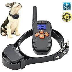 [Versión actualizada] Jiuhuazi impermeable cuello 330 yardas remota formación Collar de perro con sonido/vibración/cuello