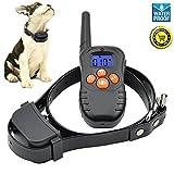 Jiuhuazi [Versione aggiornata] collare 330 iarde remoto formazione collare di cane impermeabile con segnale acustico/vibrazione/collare