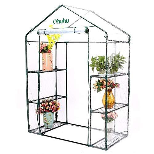 Ohuhu® banco da giardino pieghevole, inginocchiatoio e sedile per giardinaggio con borsa portastrumenti in omaggio (plant house)