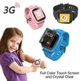 Oaxis Kids Uhr Telefon für Kinder, erste 3G SIM Karte Unterstützte Kind Smartwatch mit GPS Tracker Eignung Anti-verloren SOS Finder Geo Benzet Touchscreen (Blau) oaxis watchphone Smartwatch für Kinder: Oaxis Watchphone im Kurzcheck 51jGno1bxxL
