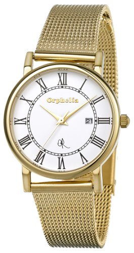 Orphelia - OR53470312 - Montre Femme - Quartz Analogique - Cadran Blanc - Bracelet Acier Doré