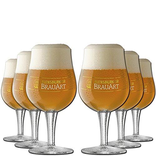 flensburger bier 6er Paket Flensburger BrauArt Biergläser