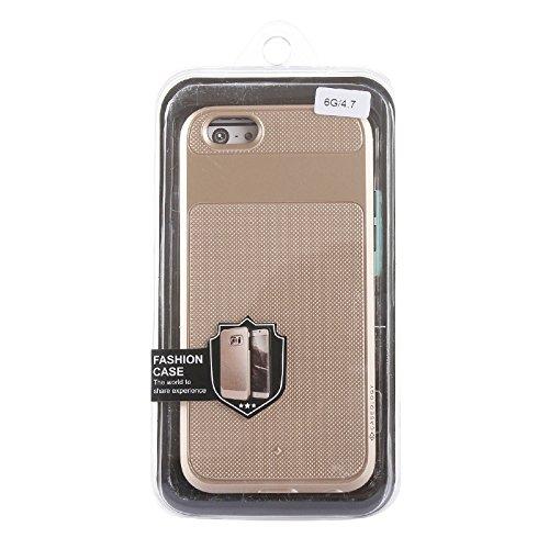 Phone case & Hülle Für IPhone 6 / 6s, Honeycomb Beschaffenheit Rüstung Schutzhülle ( Color : Green ) Gold