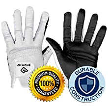 Bionic Gloves Men's RELAXGRIP 2.0 Golf Glove, White, Medium Large