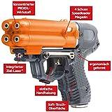 PIEXON Pfefferspraypistole JPX6 mit Laser und 4 Schuss Speedloader + BKA Genehmigung