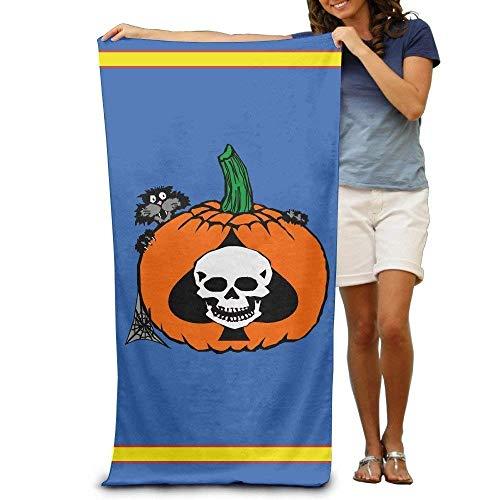 xcvgcxcvasda Badetuch, Soft, Quick Dry, Halloween Cat Pumpkin Skullspade Adults Beach Towel 31