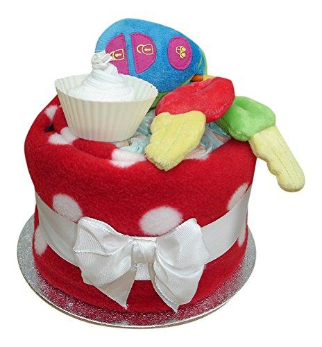 My First Auto-Schlüssel bunt Windel Cup Cake