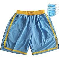 EWDS Pantalones Cortos de Secado rápido para Hombre Lakers Pantalones Cortos de baño Transpirables Suaves para Deportes de Baloncesto con Bolsillos Pantalones de Playa