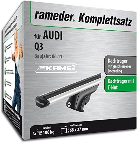 Rameder Komplettsatz, Dachträger Relingträger Kamei für Audi Q3 (135346-09731-8)