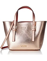 Calvin Klein Ck Small Tote Solid, 907, Os, Bolso Totes para Mujer, Varios Colores (Chrome Rose/ Henna), 11x29x18 cm (W x H x L)