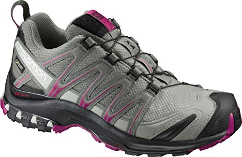 Salomon XA Pro 3D GTX Damen Traillaufschuhe, Grün (Shadow/Black/Sangria), 38 2/3 EU